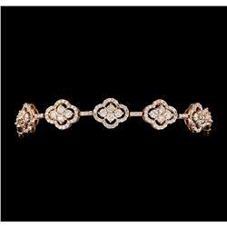 5.00 ctw Diamond Bracelet - 14KT Rose Gold