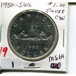 1950 SWL CNDN SILVER DOLLAR
