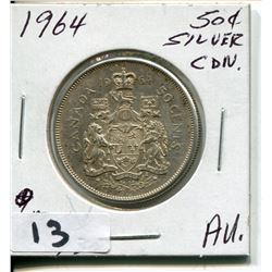1964 CNDN SILVER 50 CENT PC