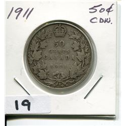 1911 CNDN SILVER 50 CENT PC
