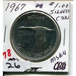 1967 CNDN SILVER DOLLAR