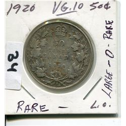 1920 CNDN SILVER 50 CENT PC