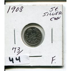 1908 CNDN SMALL 5 CENT PC