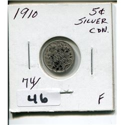 1910 CNDN SMALL 5 CENT PC