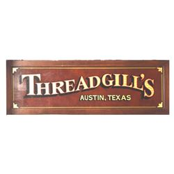 Threadgills Stage Sign