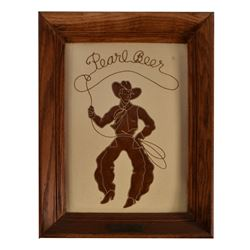 Pearl Beer Cowboy Sign