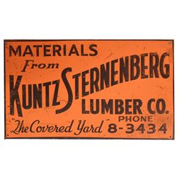 Kuntz Sternenberg Lumber Co. Austin Texas Sign