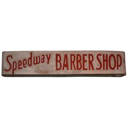 Speedway Barber Shop Sign Austin Texas