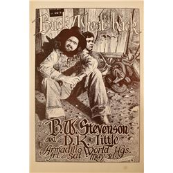 B.W. Stevenson Armadillo World HQ Poster