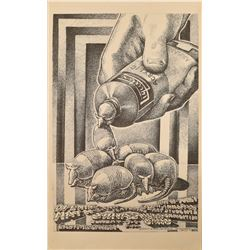Jim Franklin 1969 University of Texas Art  Poster