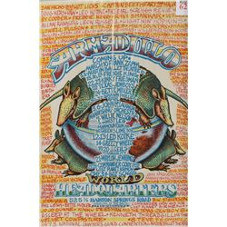 Armadillo World HQ Jim Franklin & Priest Poster