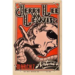 Antone's, Jerry Lee Lewis Poster