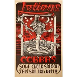 Cobras Stevie Ray Vaughan Soap Creek Saloon Poster