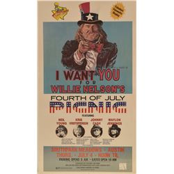 I Want You For Willie Nelsons 4rth Of July Poster