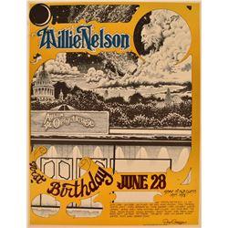 Willie Nelson Austin Opera House Poster