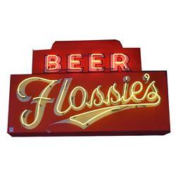 Flossie's Beer Neon Sign
