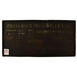 Antique Passenger Train Schedule Bulletin Board