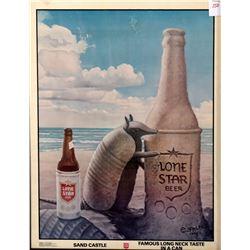 Lone Star Long Live Longnecks Poster Jim Franklin