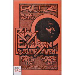 Roky Erickson Ritz Theater Framed Concert Art