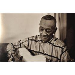 Large Burton Wilson photo of Mance Lipscomb AWHQ