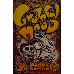 Grateful Dead Austin Texas Concert Poster