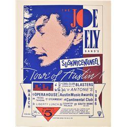"""Antone's, Joe Ely Band """"Suskwicentineel"""" Poster"""