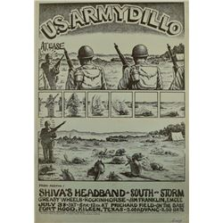 Jim Franklin U.S. ARMYDILLO Poster Shivas Headband
