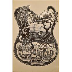Waylon Jennings Armadillo World HQ Poster