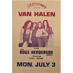 Van Halen Armadillo World Headquarters Poster