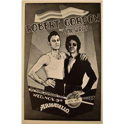 Armadillo World Headquarters Robert Gordon Poster
