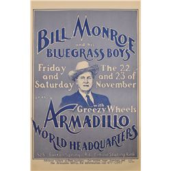 Armadillo World Headquarters Bill Monroe Poster