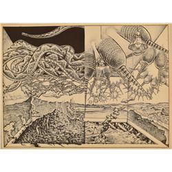 Jim Franklin Armadillo Rattlesnake Poster