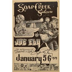 Joe Ely Autographed Soap Creek Saloon Poster