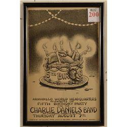 Armadillo WHQ 5th Anniversary Poster Jim Franklin