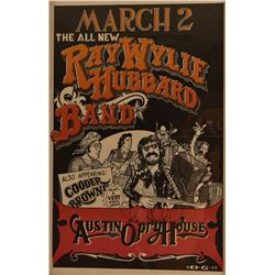 Ray Wylie Hubbard, Austin Opry House Poster