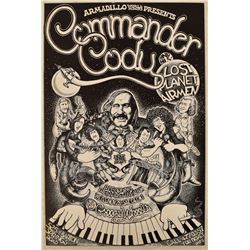 AWHQ Commander Cody Concert Poster