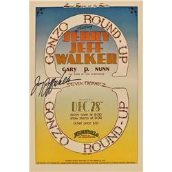 AWHQ Jerry Jeff Walker, Gary P. Nunn Signed Poster