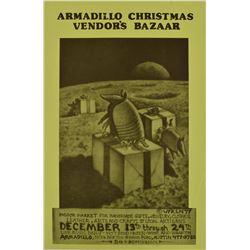 Armadillo WHQ Christmas Bazaar Poster Jim Franklin