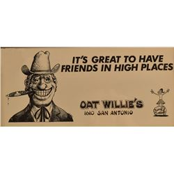 Oat Willie's Original Location Poster