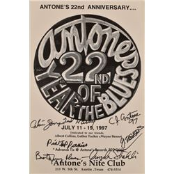 Antone's 22nd Anniversary Autographed Poster