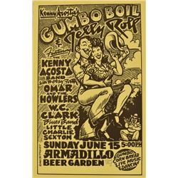 Armadillo World HQ Kenny Acosta Gumbo Boil Poster