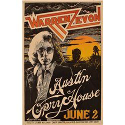 Austin Opry House Warren Zevon Concert Poster