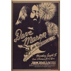 Armadillo World HQ Dave Mason Autographed Poster