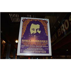 Large Roky Erickson Threadgill's Concert Poster