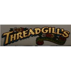 Threadgills Hand Painted Sign