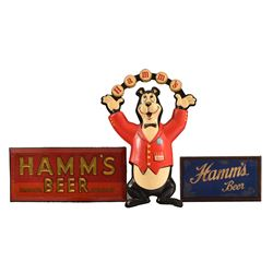 3 Hamm's Beer Advertising Signs