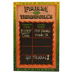Threadgill's Local Vegetables Chalkboard Sign