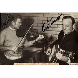 Earl Scruggs Autographed Burton Wilson Photograph
