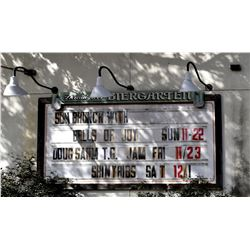 Threadgills Biergarten Marquis Sign