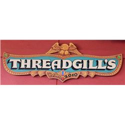 Hand Painted Threadgills Sign